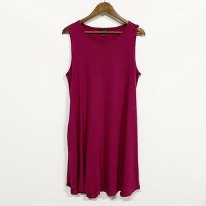 Eileen Fisher | Purple Sleeveless Dress w Pockets